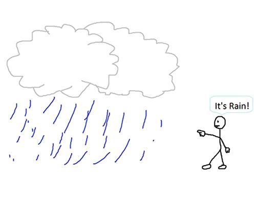 It's rain - with apostrophe