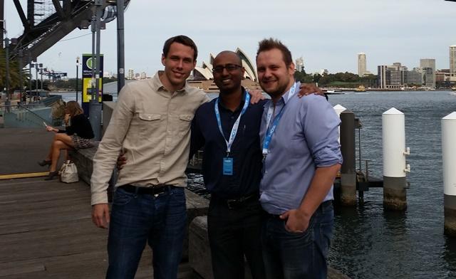 Jon, Woj and Karthik at SMX Sydney