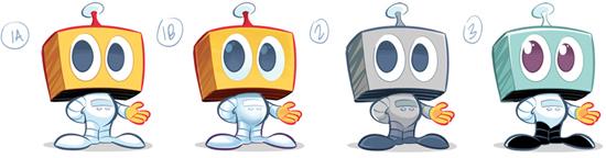 Kwasi Robot Colour Variations 1