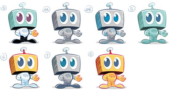 Kwasi Robot Colour Variations 2
