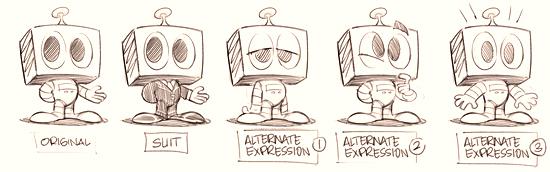 Kwasi Robot Sketches - Round 1