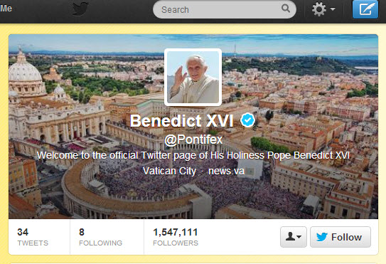 @Pontifex Twitter account