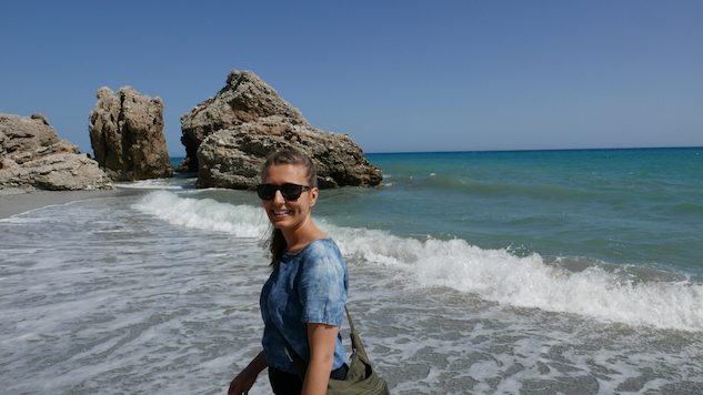 Geraldine's travel adventures on the beach
